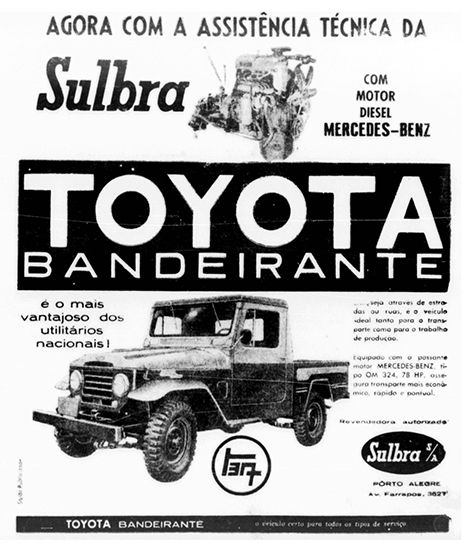 Toyota lexicar brasil a recm lanada picape toyota num anncio de 1963 de uma concessionria gacha fonte jorge a ferreira jr fandeluxe Image collections