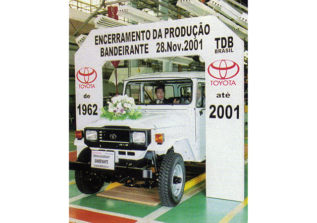 Toyota lexicar brasil cerimnia de encerramento da fabricao do jipe toyota nacional a produo foi iniciada 42 anos antes com componentes importados fandeluxe Image collections