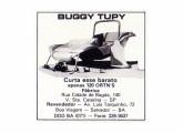 Primeiro modelo do buggy paulistano Tupy em anúncio de 1985.
