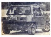 Havia pequenas variações entre os poucos exemplares do Mini Tupy fabricados; este tinha teto solar de lona e lanternas de Kombi (fonte: Jornal do Brasil).