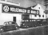 Fachada da primitiva planta de montagem da VW, no bairro do Ipiranga.