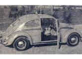 Sedã 1200 táxi: apresentado pela VW em 1961, o carrinho seria adotado em massa por todo o país.