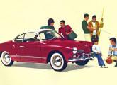 Considerado por muitos um dos mais belos automóveis da época, o Karmann-Ghia cupê foi nacionalizado em 1962.