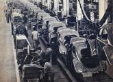 Linha de acabamento interno do sedã 1200, em 1961 (fonte: 4 Rodas).