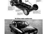 A coincidência dos lançamentos do 1600 e do Ford Corcel acabou por originar a maior e mais ampla campanha de propaganda até então patrocinada pela Volkswagen; na imagem, um anúncio de página inteira de jornal, de março de 1969.