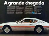 O belo esportivo SP-2, projetado no país e lançado em 1972.