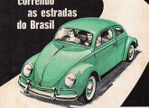 Propaganda de fevereiro de 1959 veiculando a chegada do Volkswagen sedã brasileiro.
