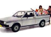 """Saveiro - """"O pick-up que veio do Gol"""", conforme propagandas da Volkswagen."""