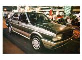 Voyage Tecno, carro-conceito projetado e construído no Brasil, exposto pela VW em 1983 (fonte: site carroantigo).