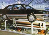 Santana Tecno II, carro-conceito da Volkswagen do Brasil apresentado em 1984 (foto: 4 Rodas).