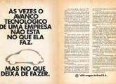 Peça publicitária de agosto de 1986 procurando explicar as razões para o encerramento da produção do Fusca.